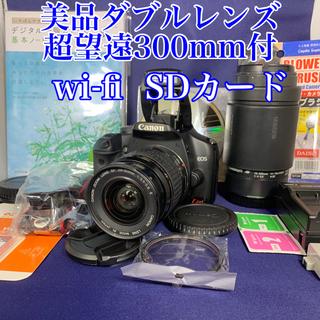 Canon - 美品 一眼レフ canonEOS X2 ダブルレンズ wi-fi SD 16GB