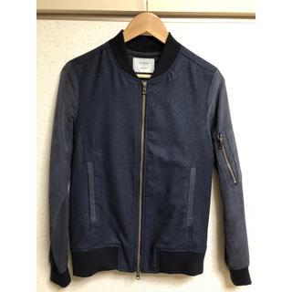 ステュディオス(STUDIOUS)のSTUDIOUS  紺色のMA-1ジャケット(ブルゾン)