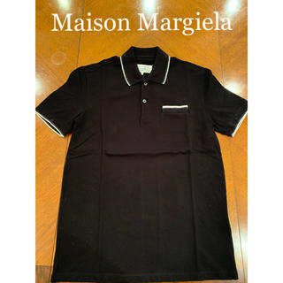 マルタンマルジェラ(Maison Martin Margiela)のメゾンマルジェラ ダメージ加工 ポロシャツ ブラック サイズIT46(ポロシャツ)