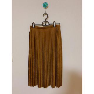 トゥモローランド(TOMORROWLAND)のTOMORROW LAND ブラウンプリーツスカート(ひざ丈スカート)