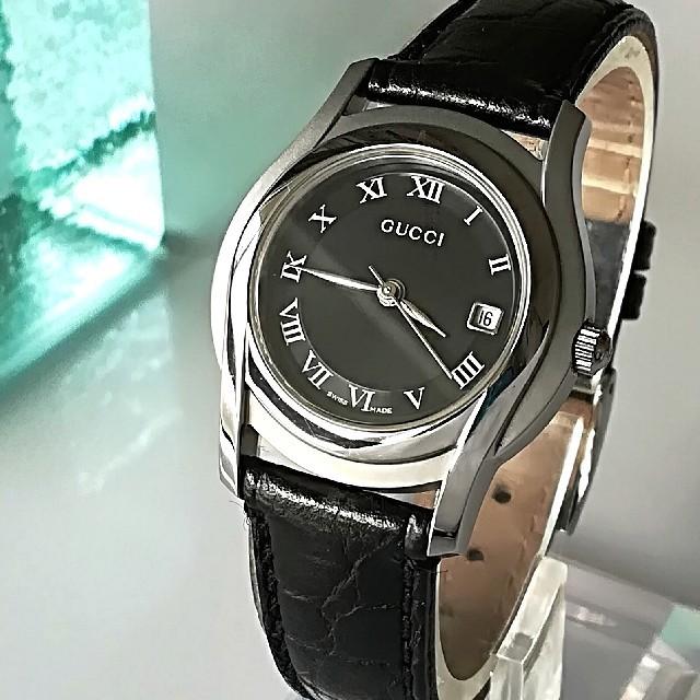 パテックフィリップ コピー 低価格 | Gucci - 綺麗 グッチ 新品仕上 黒 レディースウォッチ 時計 プレゼント卒業式に 極美品の通販
