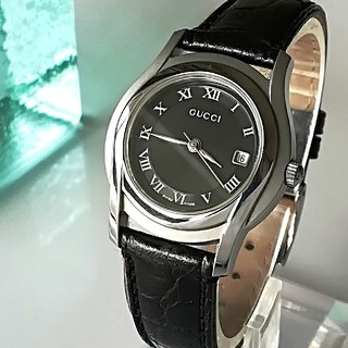 Gucci - 綺麗 グッチ 新品仕上 黒 レディースウォッチ 時計 プレゼント卒業式に 極美品