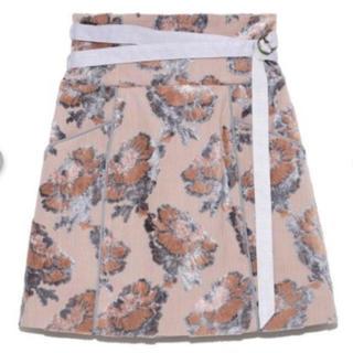 Lily Brown - ジャガードミニ台形スカート