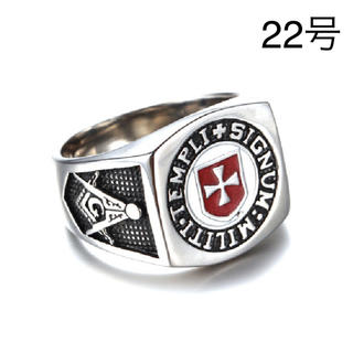 テンプル騎士団 リング フリーメイソン 指輪 22号 ロック ゴシック パンク(リング(指輪))
