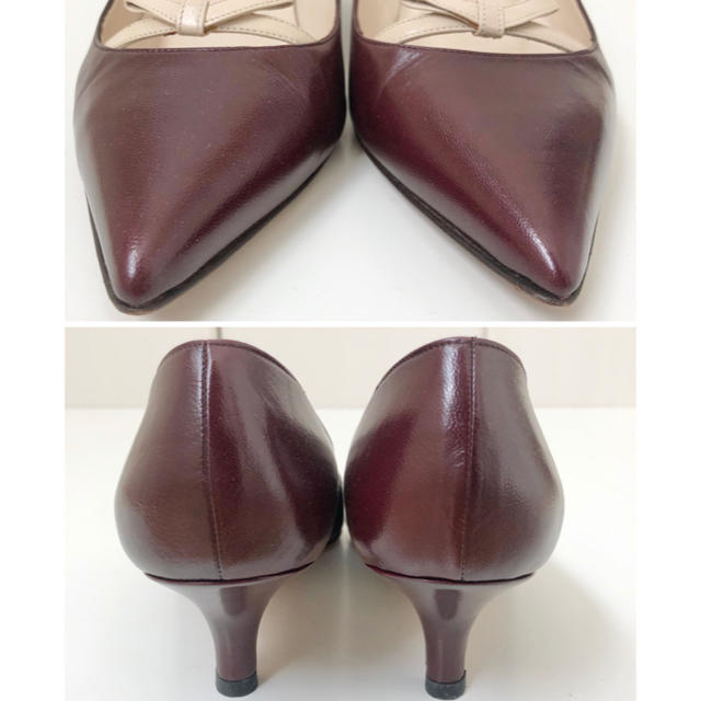 MANOLO BLAHNIK(マノロブラニク)の極美品 ★ マノロブラニク  リボンパンプス 37 ミドルヒール レディースの靴/シューズ(ハイヒール/パンプス)の商品写真