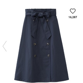 GU - 新品未使用!トレンチフレアスカート!