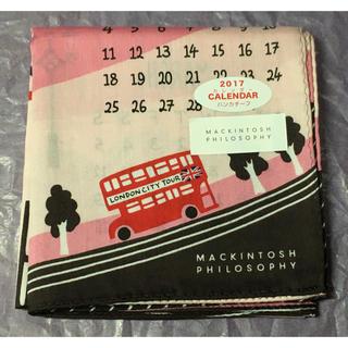 マッキントッシュフィロソフィー(MACKINTOSH PHILOSOPHY)の新品☆マッキントッシュフィロソフィー ハンカチ☆2017年カレンダー ロンドン(ハンカチ)