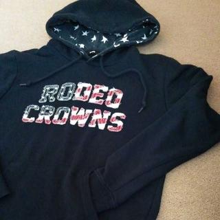 RODEO CROWNS WIDE BOWL - RCWB ロデオクラウンズワイドボウル フラッグロゴ付きパーカー