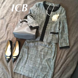 ICB - ICB アイシービー フォーマルスーツ セレモニースーツ ツイード