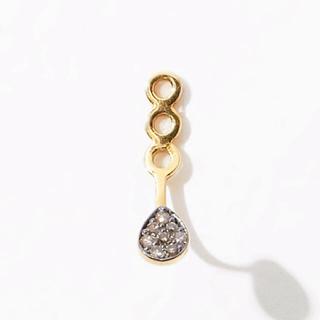 agete - アルティーダウード 両耳ペタルダイアモンドピアスとダイヤモンドチャーム