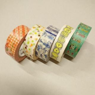 エムティー(mt)のmt マスキングテープ 中古 5個セット カモ井加工紙  限定テープ有り(テープ/マスキングテープ)