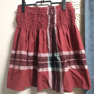 ヨークランド(Yorkland)の【SALE】ヨークランド**赤 スカート(ひざ丈スカート)