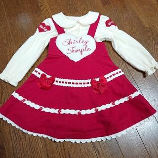 Shirley Temple - シャーリーテンプル ハートボアジャンパースカート ワンピース カットソー