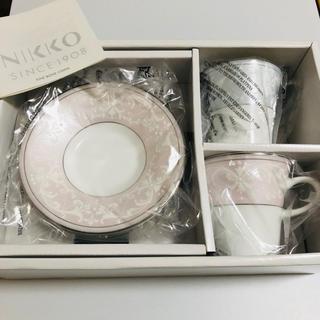 ニッコー(NIKKO)のニッコー ペアカップ&ソーサー NIKKO     【新品未使用】(グラス/カップ)