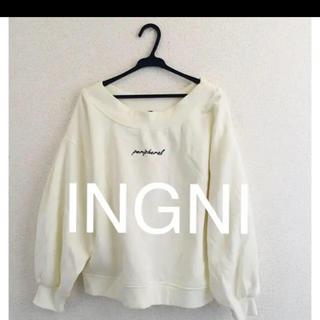 INGNI - 新品★INGNIイング★ちびロゴスウェットオフショルトップス