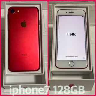 Apple - 【SIMロック解除済】iPhone 7 Red 128 GB Softbank