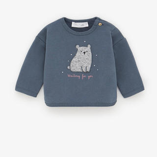 ZARA KIDS - ZARA クマのパッチ付きスウェットシャツ