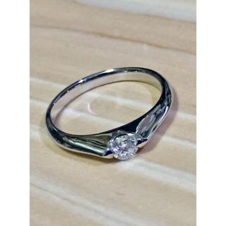 リモ様専用  プラチナ シンプルダイヤリング(リング(指輪))