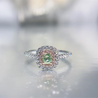 新作シンプルイエローグリーンダイヤモンド指輪(リング(指輪))