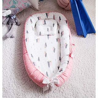 ベッドインベッド(防水シーツ付き)添い寝ベッド ベビー布団 (もみの木・ピンク)