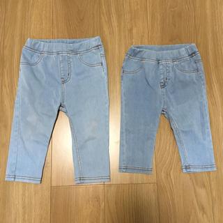 MUJI (無印良品) - 無印良品 キッズ パンツ 90 & 100 兄弟コーデ 姉妹コーデ