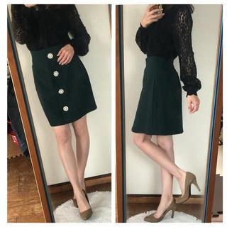 ダズリン(dazzlin)のdazzlin ビジューフラワースカート♡(ひざ丈スカート)