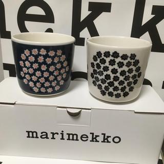 marimekko - マリメッコ ラテマグ プケッティ ネイビー ホワイト