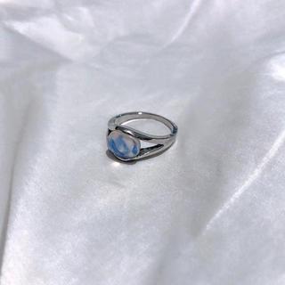 Lochie - ୨୧ Vintage rétro silver opal ring