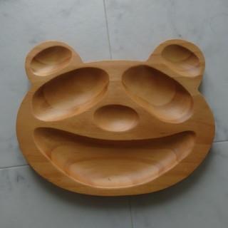 新品 プチママン プレート 木製 ウッド ベビートレイ