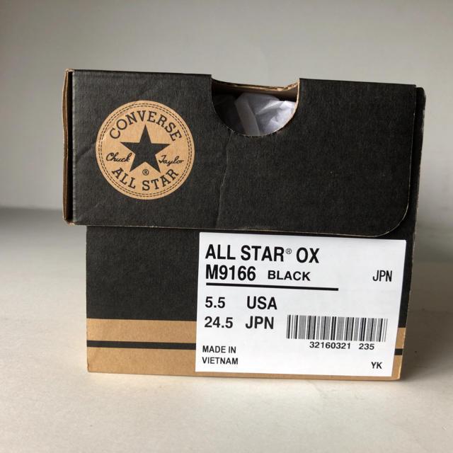 CONVERSE(コンバース)の新品 コンバース オールスター OX  BK ブラック 24.5cm レディースの靴/シューズ(スニーカー)の商品写真