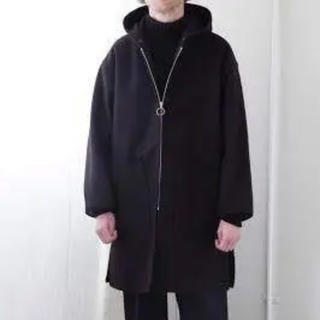 COMOLI - comoli メルトンフーデッドコート