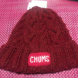 チャムス(CHUMS)の CHUMS チャムス ニット帽 ネパール ニットワッチ レッド(ニット帽/ビーニー)