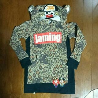 JAM - JAM ロング丈フード付きトレーナー パーカーヒョウ柄130/グラグラ