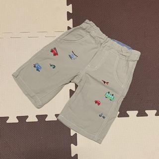 kladskap - クレードスコープ 乗り物刺繍 パンツ ベージュ 100