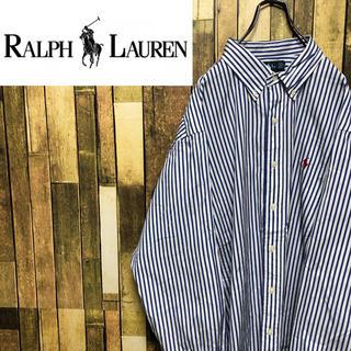 Ralph Lauren - 【激レア】ラルフローレン☆ワンポイント刺繍ロゴキャンディストライプシャツ 90s