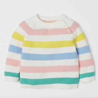 エイチアンドエム(H&M)のH&M 新品未開封タグ付き ファインニットセーター 70サイズ(ニット/セーター)