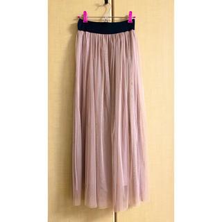 アナップ(ANAP)のピンク チュールスカート(ロングスカート)