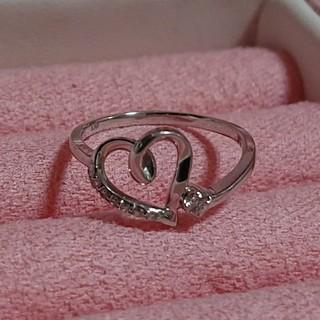 ヨンドシー(4℃)のK10ホワイトゴールド ダイヤモンドリング(リング(指輪))