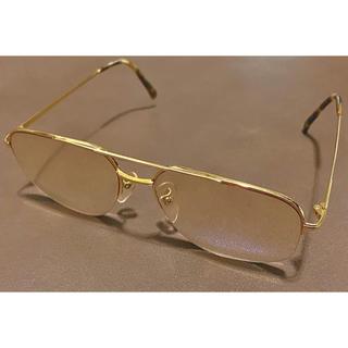 ペンタックス(PENTAX)の【K18 金無垢】PENTAX  眼鏡  メガネ GOLD 37.4g(サングラス/メガネ)