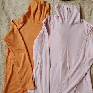 ユニクロ(UNIQLO)のユニクロ オレンジのフリース(カットソー(長袖/七分))