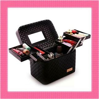 新品★メイクボックス 化粧箱 化粧ボックス 小物入れ 収納 大容量 バニティ(メイクボックス)
