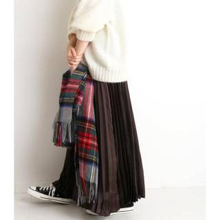 IENA SLOBE - タグ付き新品♡大人気完売♡SLOBE IENA サテンプリーツスカート ブラウン