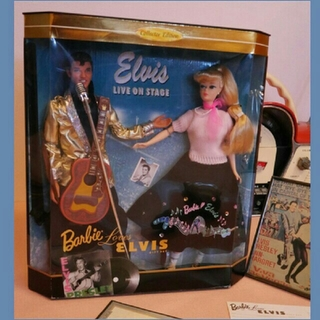 バービー(Barbie)の♦♬Elvis&Barbie doll未取り出し♦♢(ぬいぐるみ)