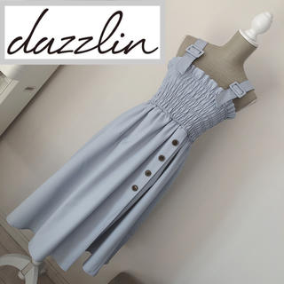 dazzlin - ダズリン サス付きベアワンピース ブルー