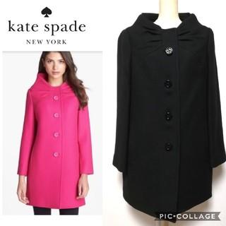 ケイトスペードニューヨーク(kate spade new york)の【kate spade】etta coat リボンコート ヒョウ柄(ロングコート)