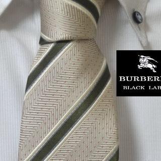BURBERRY BLACK LABEL - 大人気★バーバリーブラックレーベル【ホースロゴ入りストライプ】高級ネクタイ