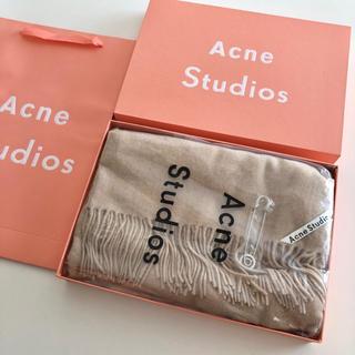 ACNE - Acne Studios アクネ ライトオートミール ストール マフラー