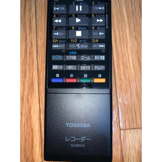 東芝(トウシバ)の東芝 レコーダーリモコン SE-R0416 スマホ/家電/カメラのテレビ/映像機器(その他)の商品写真