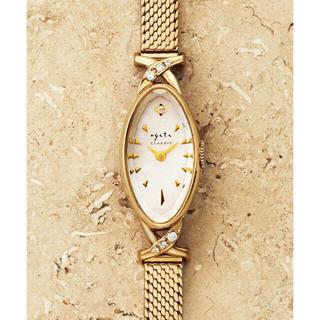 アガット(agete)の超美品 年末購入 アガットagete オーバルフェイスジュエリーウォッチ 時計(腕時計)