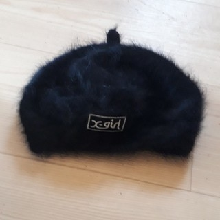 エックスガール(X-girl)のX-Girlふわふわベレー帽(ハンチング/ベレー帽)